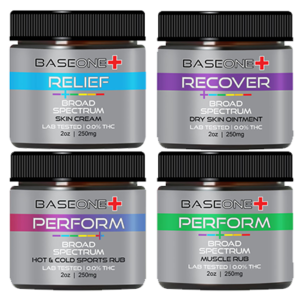 BaseOne CBD Broad Spectrum Dry skin ointment